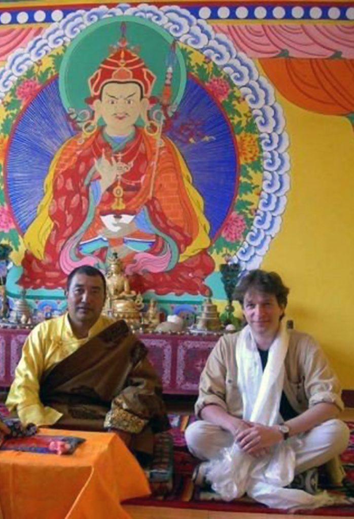Jonathan Schütz with Living Buddha, Gansu, China